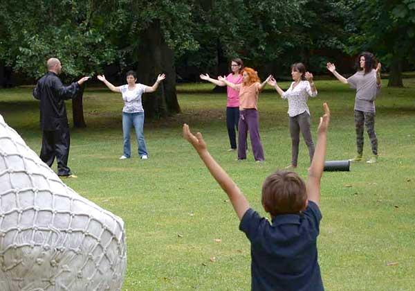 Qi Gong parco Arcadia Bareggio tecnico Filippo Scimone Panajia